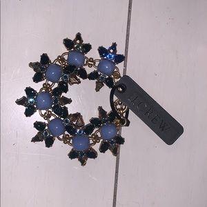 NWT J. Crew Blue and Gold Bracelet